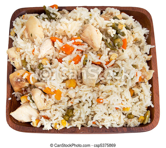 poulet, riz - csp5375869