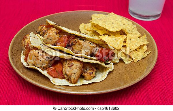 poulet, tacos - csp4613682