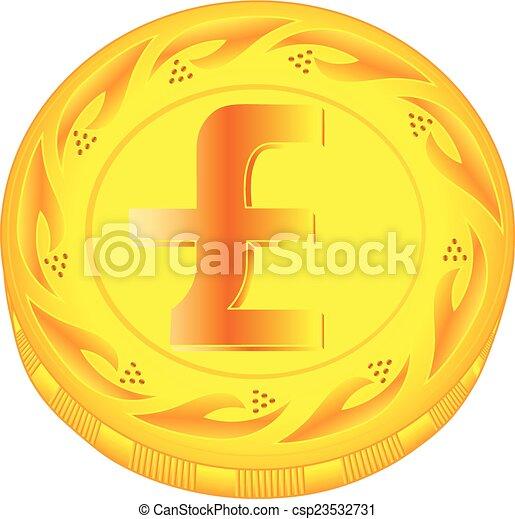 Pound coin - csp23532731