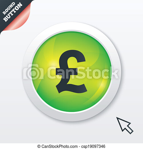 Pound Sign Icon Gbp Currency Symbol Money Label Green Eps