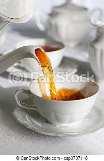 Pouring tea. - csp0707118
