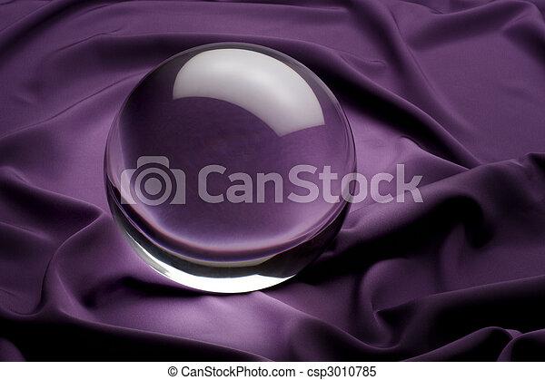 pourpre, boule quartz - csp3010785