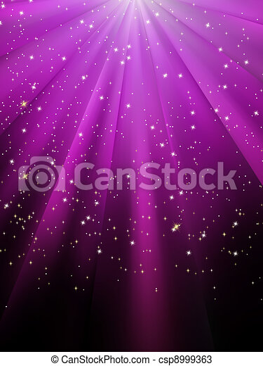 pourpre, eps, étoiles, 8, tomber, lumineux, rays. - csp8999363