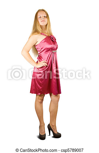 pourpre, girl, robe - csp5789007