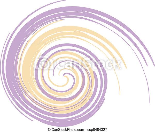 pourpre, tourbillon, jaune - csp8484327