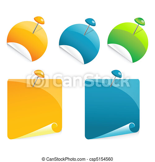 poussée, papier, épingle - csp5154560