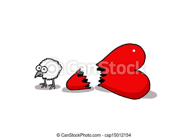 Poussin amour sur amour valentine amusant vectorel - Clipart amour ...