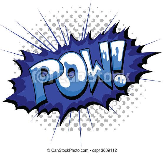 Pow - Comic Burst Expression - csp13809112