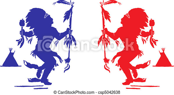 Two indians perform a traditional dance in celebration of pow wow vector sciox Choice Image