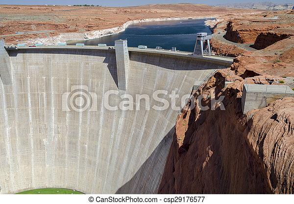 Powell Lake Dam - csp29176577