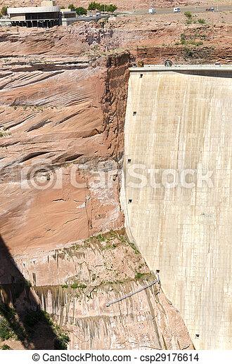 Powell Lake Dam - csp29176614