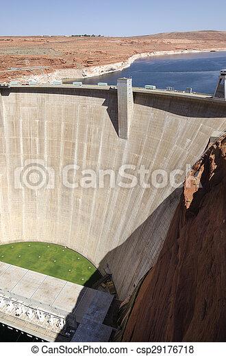 Powell Lake Dam - csp29176718