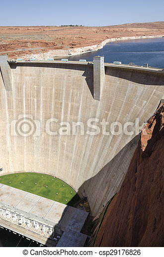 Powell Lake Dam - csp29176826