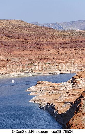 Powell Lake Dam - csp29176534