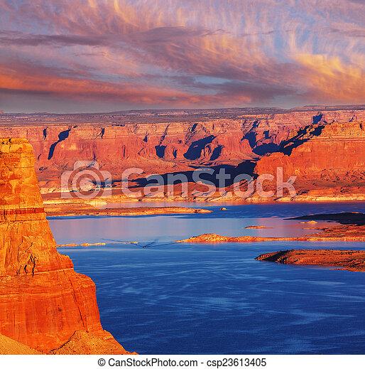 Powell lake - csp23613405