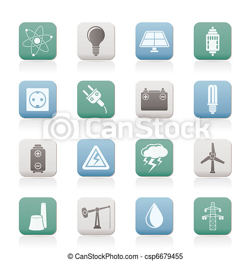 Power and electricity industry icon - csp6679455