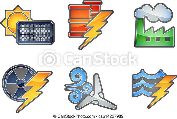 Power and Energy Icon Set - csp14227989
