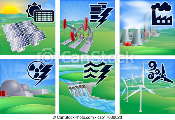 Power and Energy Icons - csp17638028