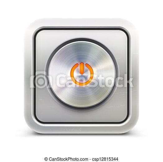 Power button - csp12815344