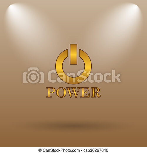 Power button icon - csp36267840