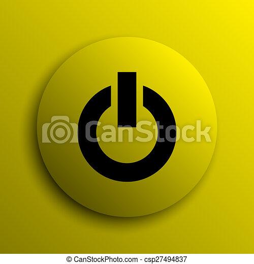 Power button icon - csp27494837