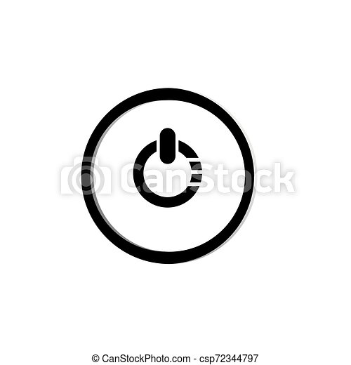 power button icon. Logo element illustration. power button symbol design. colored collection. power button concept. Can be used in web and app - csp72344797