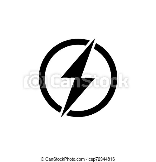 power button icon. Logo element illustration. power button symbol design. colored collection. power button concept. Can be used in web and app - csp72344816