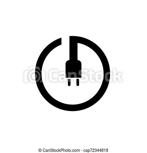 power button icon. Logo element illustration. power button symbol design. colored collection. power button concept. Can be used in web and app - csp72344818