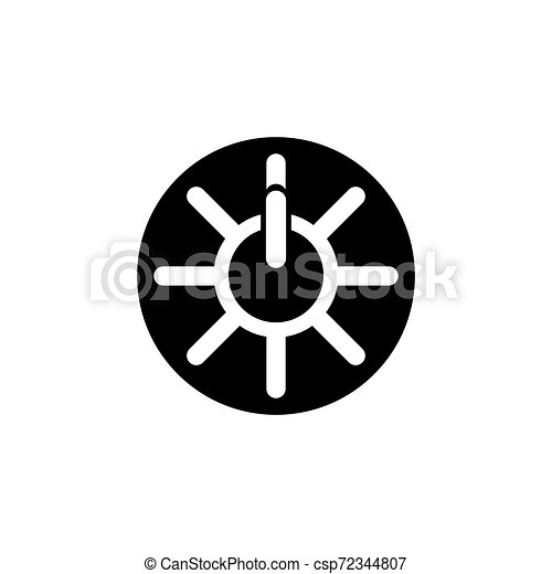 power button icon. Logo element illustration. power button symbol design. colored collection. power button concept. Can be used in web and app - csp72344807