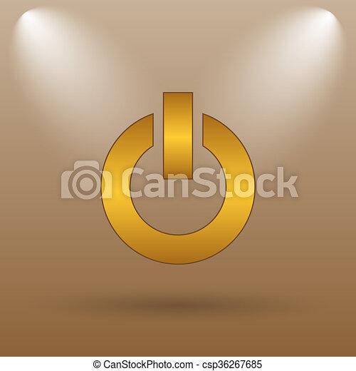 Power button icon - csp36267685
