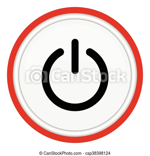 vector illustration of power button vector illustration search rh canstockphoto com power button symbol vector power button icon vector