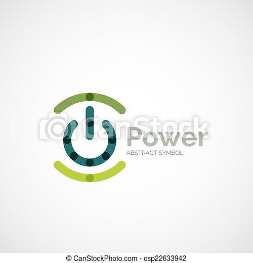 Power button logo design - csp22633942