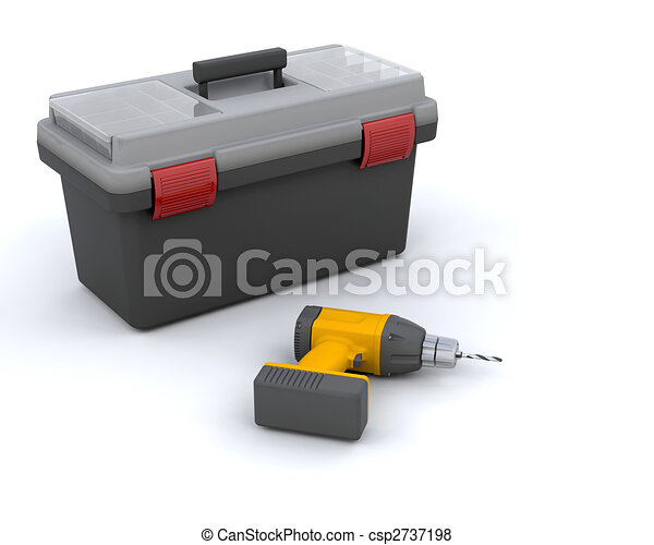 power drill and toolbox - csp2737198
