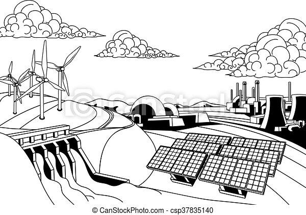 Power Energy Generation Sources Power Energy Generation