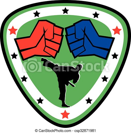 power fist mma karate boxing logo strong fist belt vector rh canstockphoto com mma fighting clipart mma clipart free