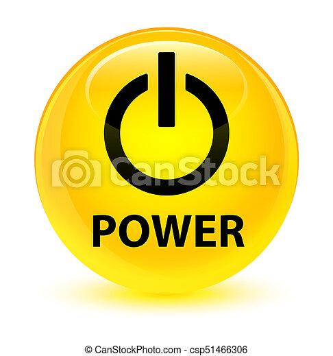 Power glassy yellow round button - csp51466306