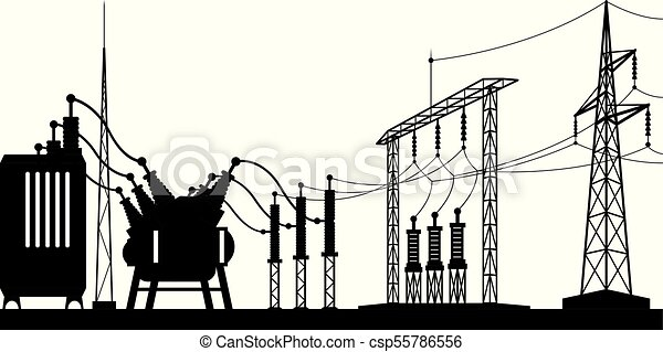 Power grid substation - csp55786556
