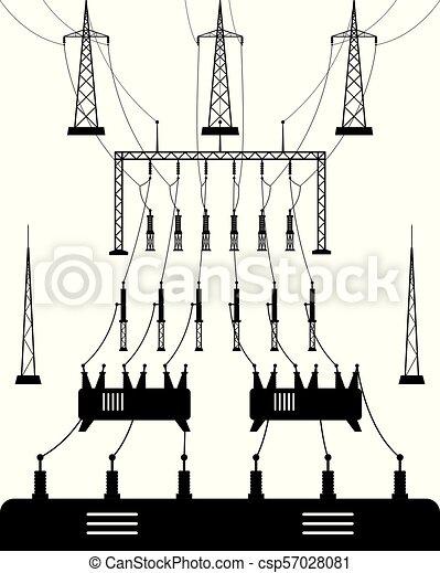Power grid substation - csp57028081