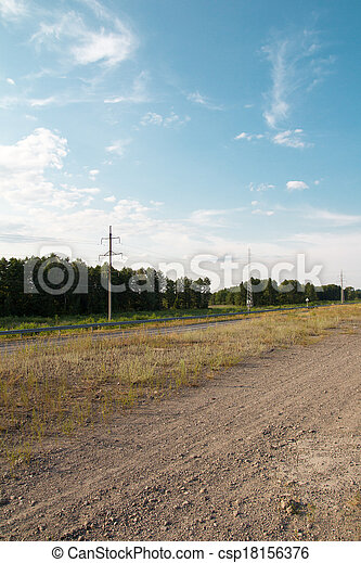 power line in nature - csp18156376