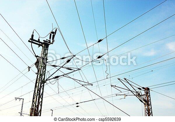 power lines - csp5592639