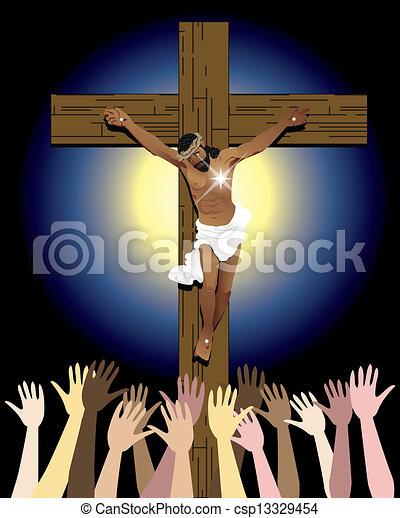 Power of Jesus Christ Easter - csp13329454
