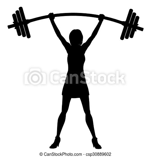 Power Of Woman Eps8 Editable Vector Silhouette Of A Woman Easily