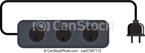 Power outlet icon, flat style - csp57367113