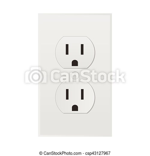 Power Outlet Illustration Of A Clip