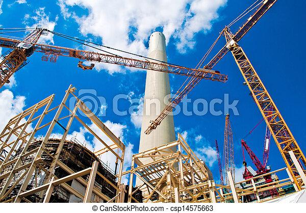 Power plant and cranes - csp14575663