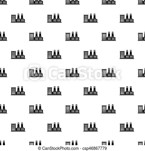 Power plant pattern vector - csp46867779