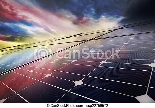 Power plant using renewable solar energy - csp22759572