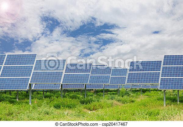 Power plant using renewable solar energy - csp20417467