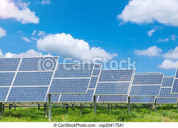 Power plant using renewable solar energy - csp20417541