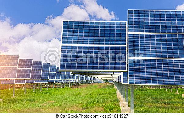Power plant using renewable solar energy - csp31614327